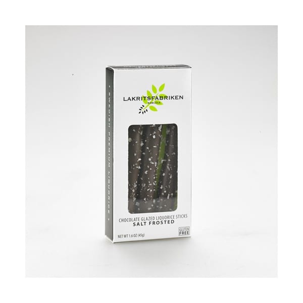 Lakritsfabriken Liquorice Sticks, Dark Chocolate + Sea Salt 45g