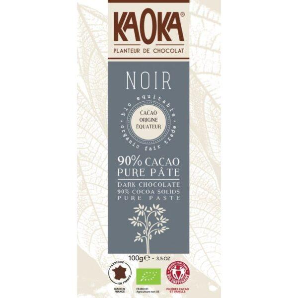 KAOKA Choklad, 90% Mörk Från Ecuador, Ekologisk