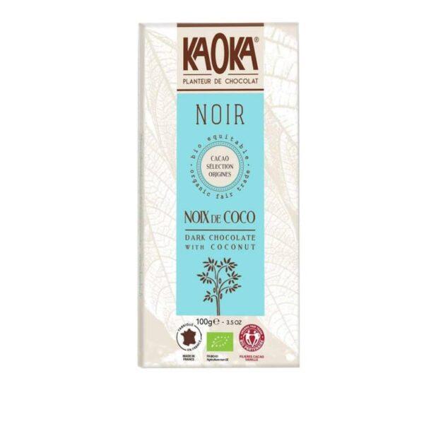KAOKA Choklad, 55% Mörk Med Coconut, Ekologisk