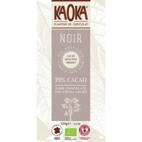 KAOKA Choklad, 70% Mörk, Ekologisk