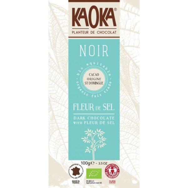 KAOKA Choklad, 70% Mörk Med Sea Salt, Ekologisk
