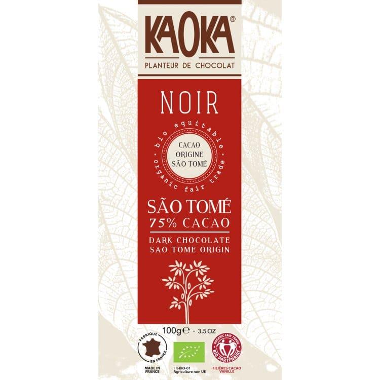 KAOKA Choklad, 75% Mörk Från Sao Tome, Ekologisk