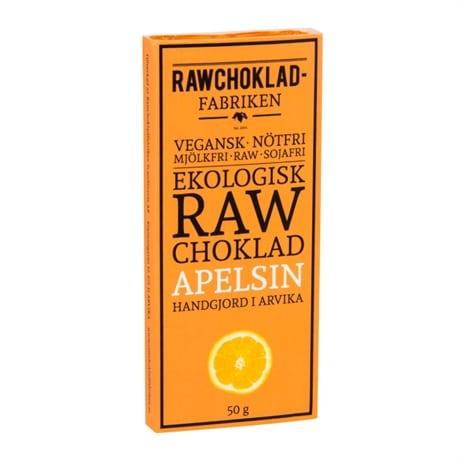 Rawchoklad Apelsin 73%, 50g, Rawchokladfabriken