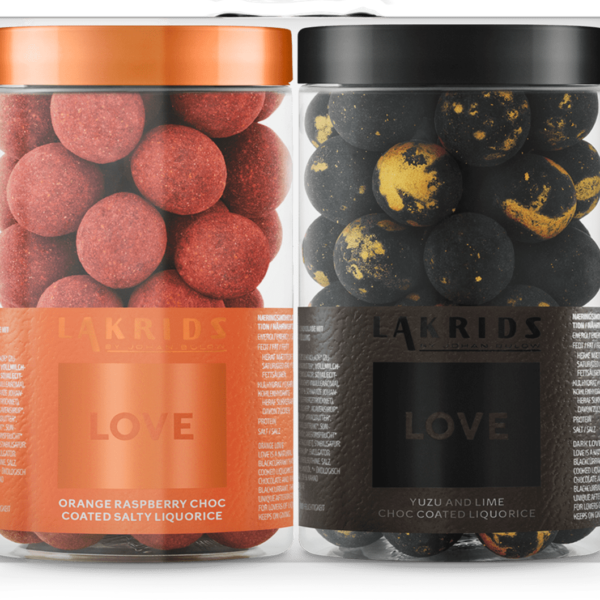 DOUBLE LOVE – ORANGE & DARK - Lakrids by Johan Bülow