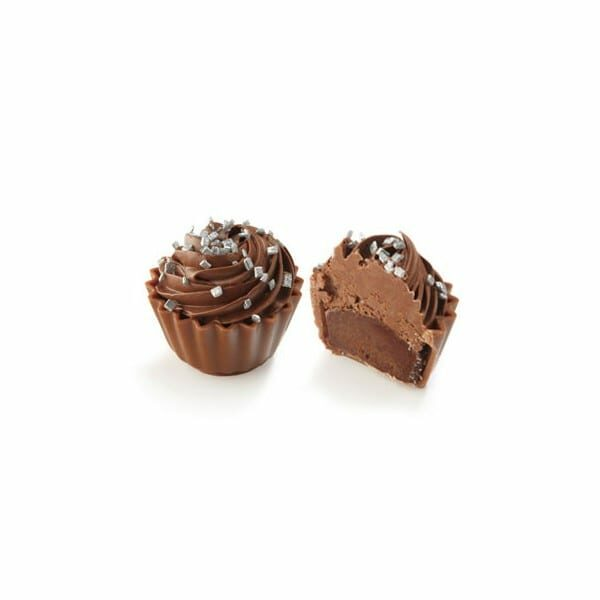 Cupcake med mörk choklad ganache