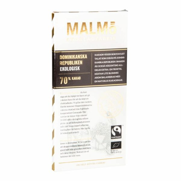 Dominikanska republiken 70%, 80g, Malmö Chokladfabrik