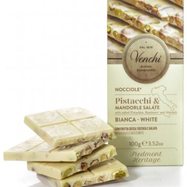 Venchi - Vit med pistage/mandel/hasselnötter, 100g