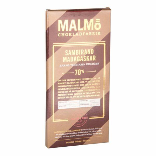 Sambirano Madagaskar 70%, 80g, Malmö Chokladfabrik