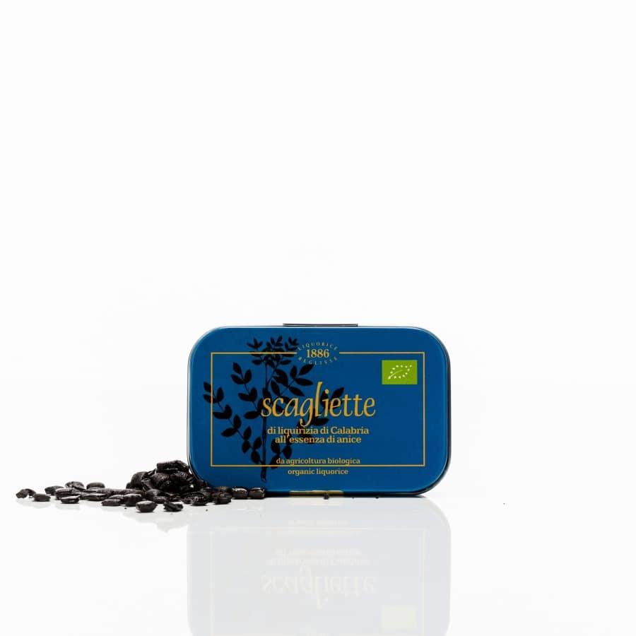 1886 Scagliette Ekologisk lakrits med anissmak 40 g