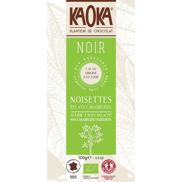 KAOKA Choklad, 66% Mörk Med Hasellnöt, Ekologisk