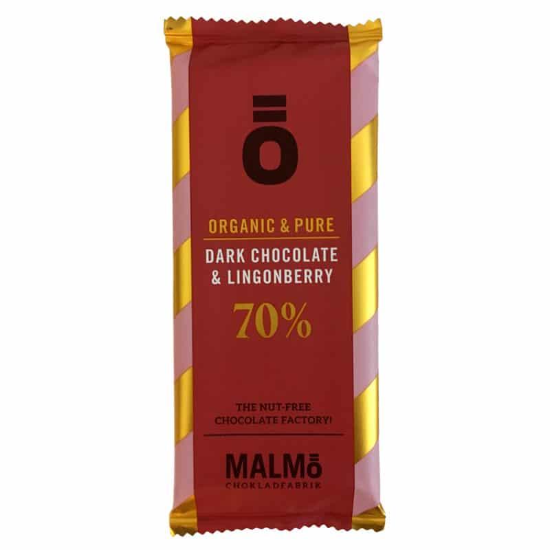 Ö Ekologisk Choklad Dark Chocolate 70% LINGONBERRY - 55g
