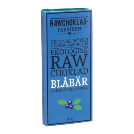 Rawchoklad Blåbär 73%, 50g, Rawchokladfabriken