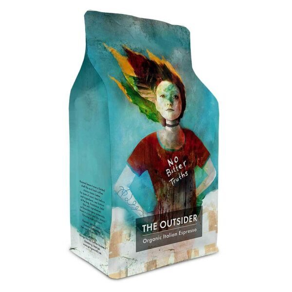 Gringo Nordic - The Outsider - Organic Italian Espresso - Ekologiska mörkrostade kaffebönor - 500g