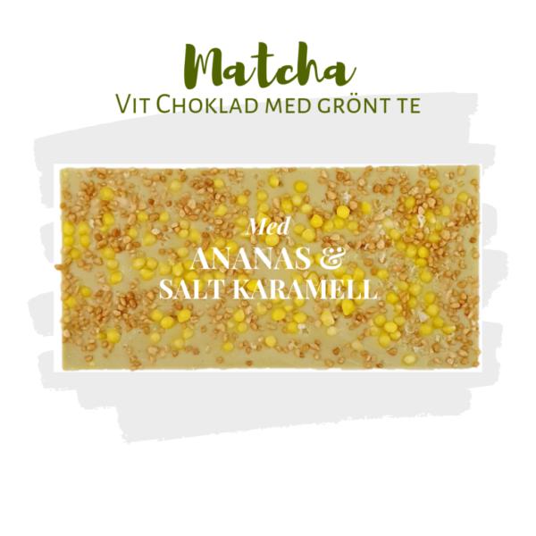 Matchachoklad – Ananas, Karamell & Havssalt