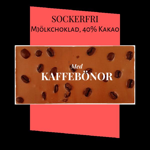 Sockerfri Mjölkchoklad – Kaffebönor
