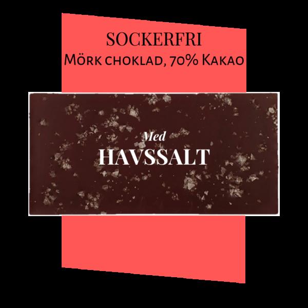 Sockerfri Mörk choklad – Havssalt 70%
