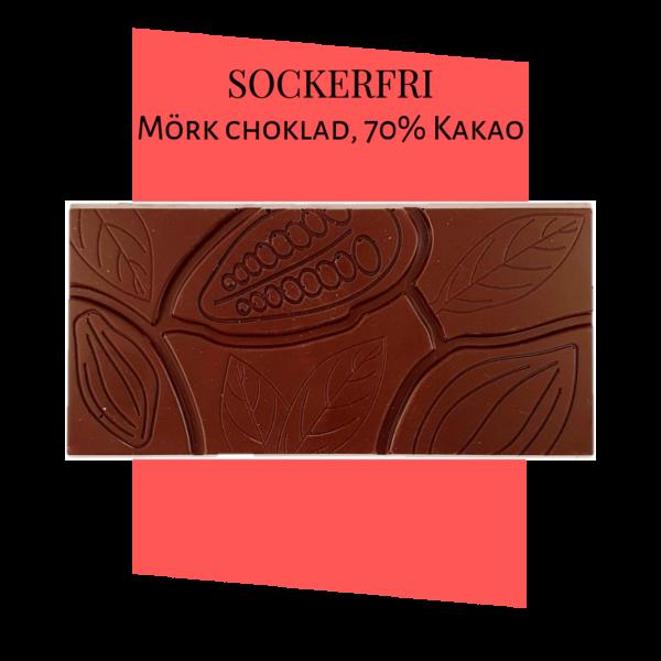 Sockerfri Mörk choklad – Ren