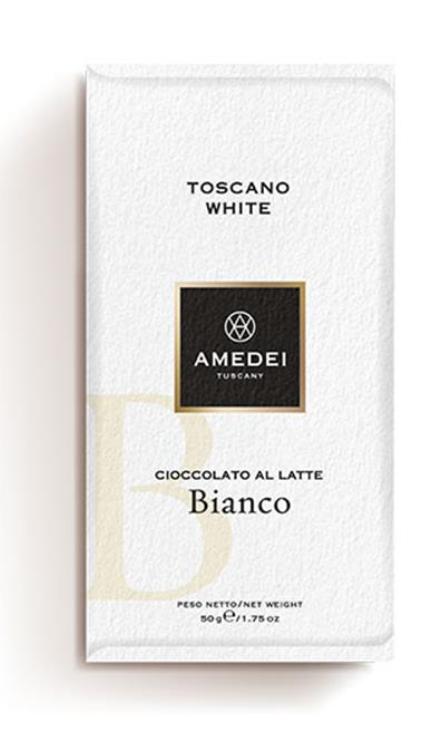 Toscano White vit choklad, 50g - Amedei