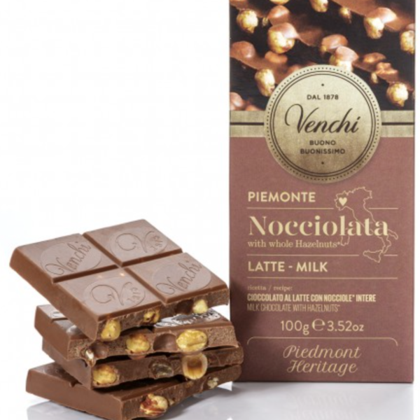 Venchi - Mjölkchoklad med hasselnötter, 100g