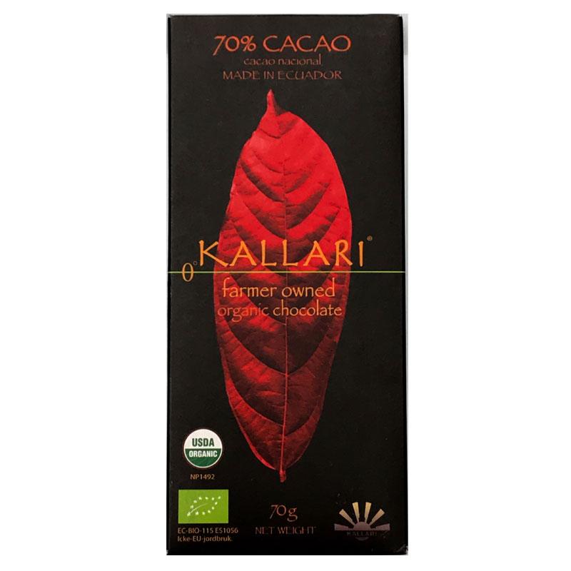 KALLARI - Mörkchoklad 70% av Nacionalkakao – Ekologisk