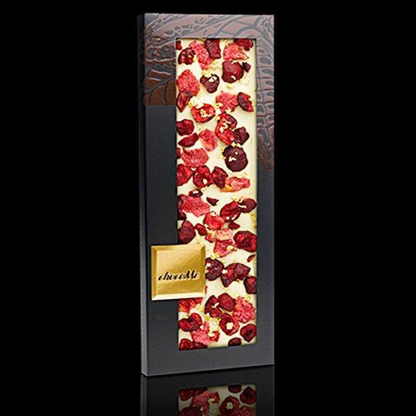 ChocoMe - Vit Choklad, Rosenblad, Körsbär 23 Karat bladguld