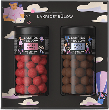 LOVE BLACK BOX - REGULAR LOVE CHOCOLATE COATED LIQUORICE
