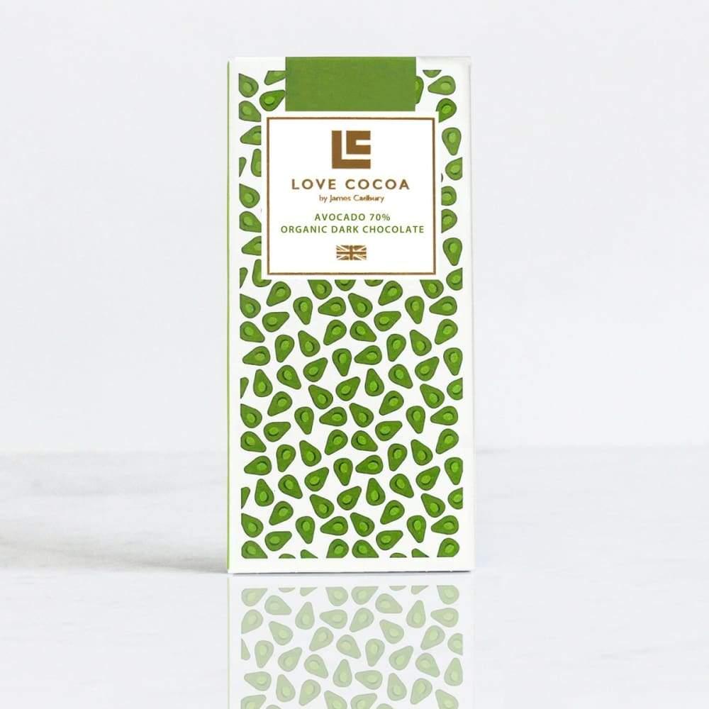LOVE COCOA – Avocado 70% Dark Organic Chocolate