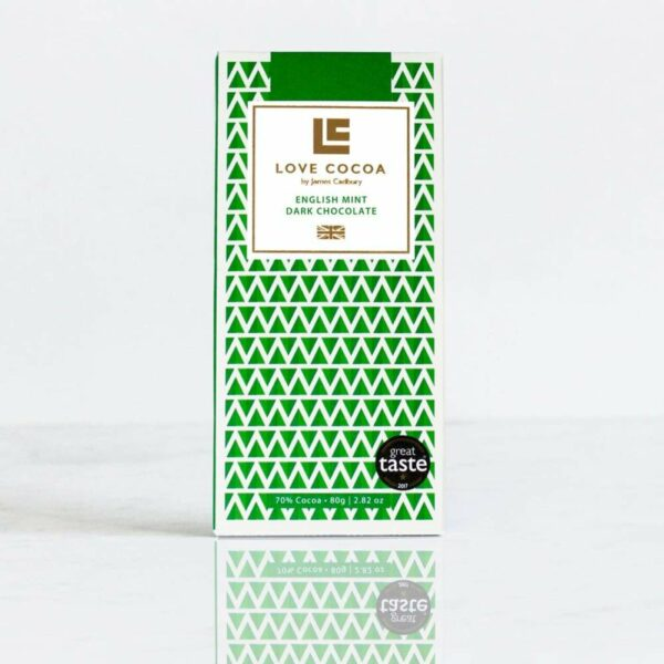LOVE COCOA – English Mint 70% Dark Chocolate