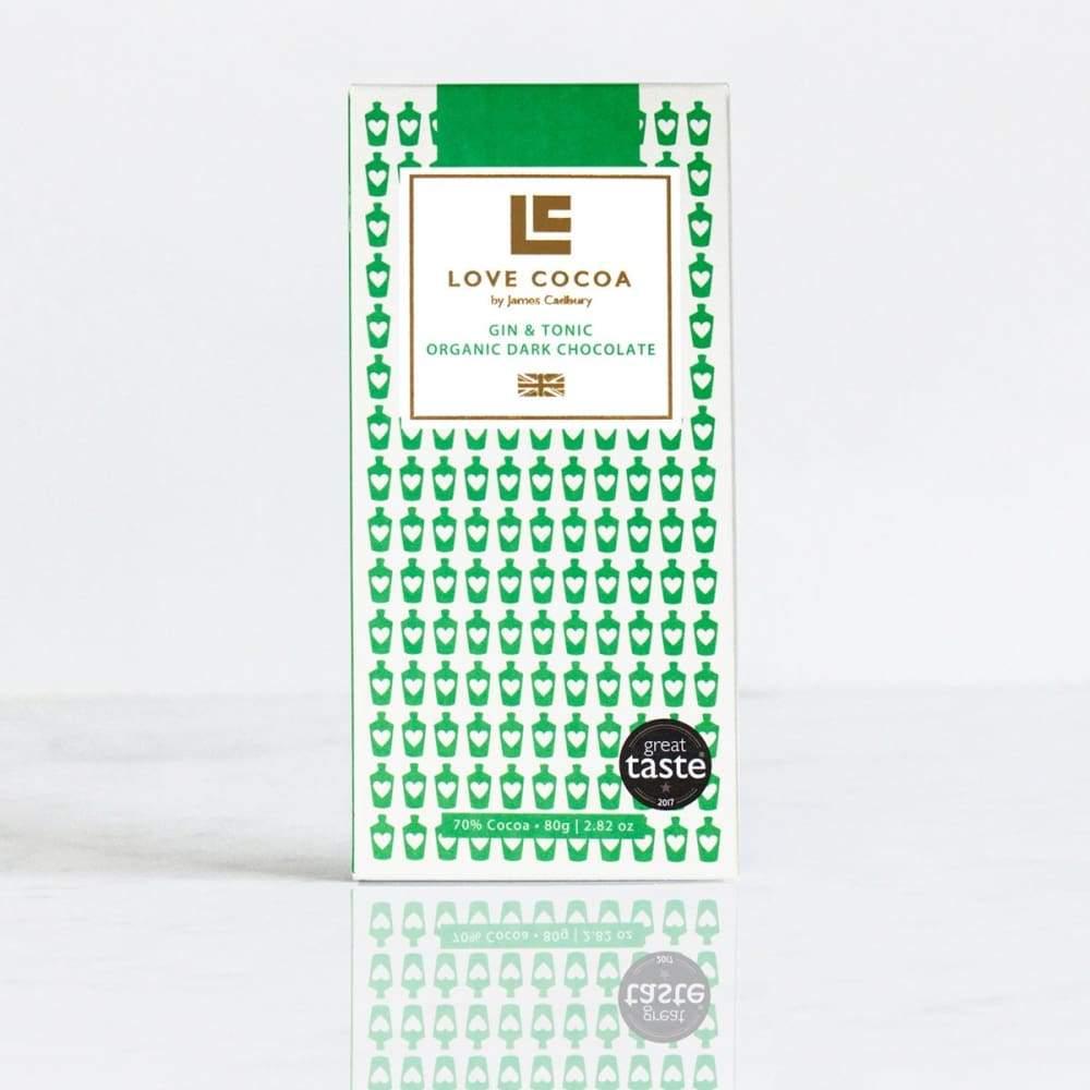 LOVE COCOA – Gin & Tonic 70% Organic Dark Chocolate